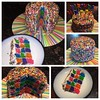 Checkerboard birthday cake