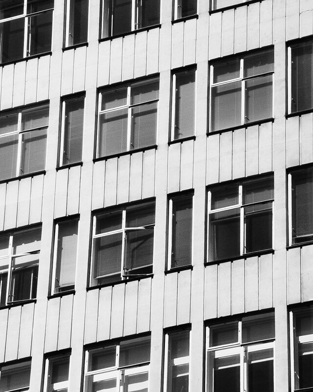 side of building in black and white