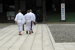 Monks, Naritasan Shinshoji Temple, Narita, Japan, July 2014