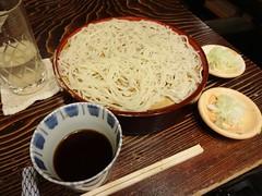 Soba Noodle Dinner @Muromachi Sunaba, Tokyo, Japan