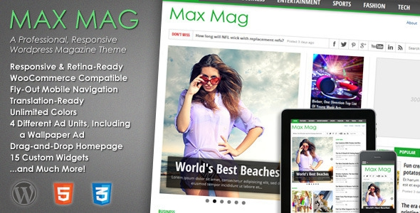 Max Mag v2.7 - Responsive Wordpress Magazine Theme