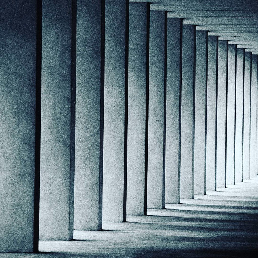 Columns and shadows  #ModernArchitecture #Building #Blackandwhite #Columns #Light #Shadow #Modern #Milano #Milamo #igersmilano #Abstract #archidaily #archilovers #Architecture #architecturelovers #City #design #geometric #geometry #lines #minimal #pattern