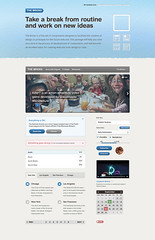 Free The Bricks – User Interface Framework UI kit for Photoshop