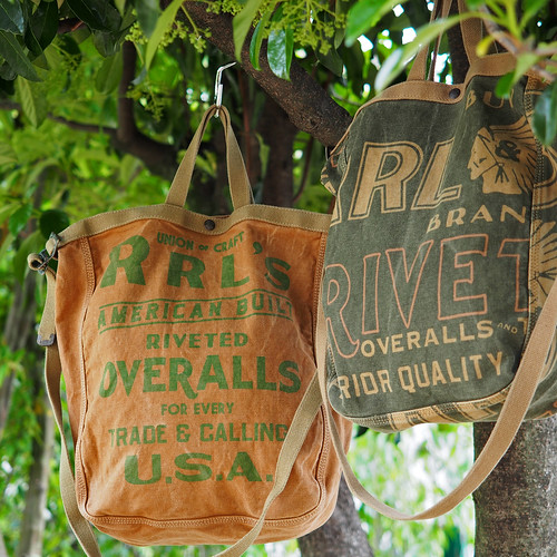 RRL / Newsprint Canvas Market Tote