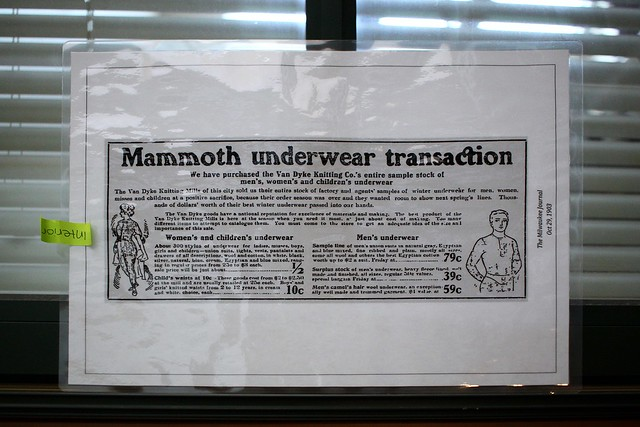 Mammoth underwear transaction