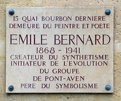 Photo of Émile Bernard marble plaque