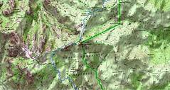 Carte du Jour 1 - tronçon des bergeries de Capeddu aux bergeries de Renosu