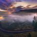 Foggy Rowena Crest sunrise by brianstowell