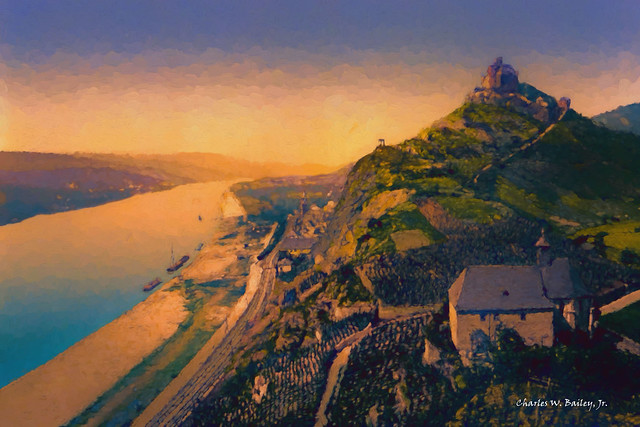 Digital Oil Painting of Marksburg by Charles W. Bailey, Jr.