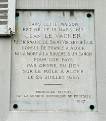 Photo of Jean Le Vacher marble plaque