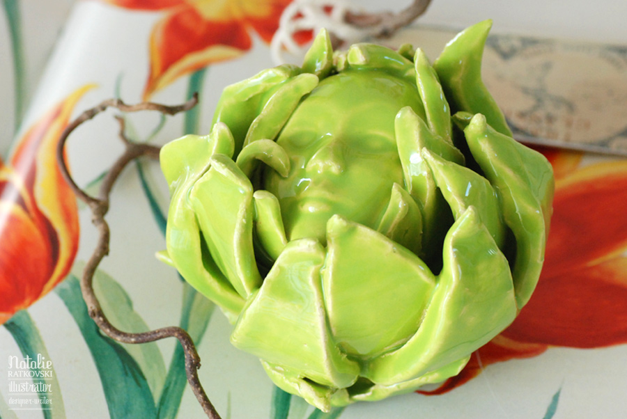 My ceramic artichokes