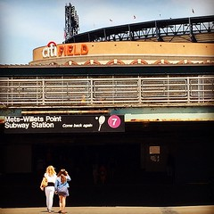 The #Walk From The #LongIslandRailroad To #CitiField Near The #Number7 #Subway #Queens #NewYorkCity #LetsGoMets #MemorialDay #2015