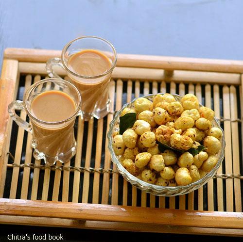 Masala roasted phool makhana recipe