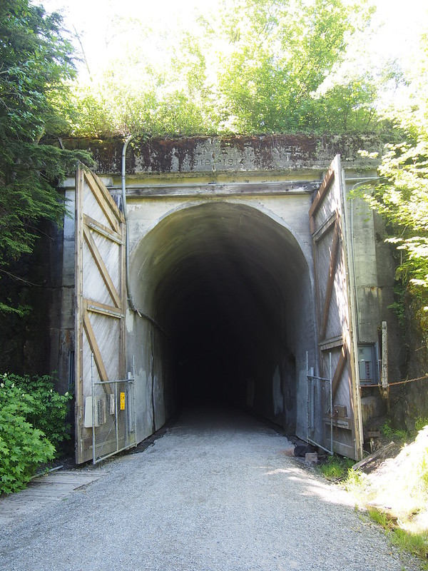 Snoqualmie Tunnel: How the John Wayne Pioneer Trail avoids going over Snoqualmie Pass.
