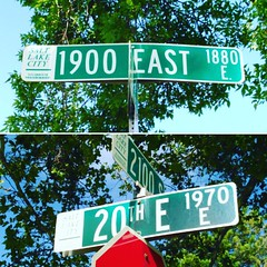 These are the two strangest street signs I've found in Salt Lake City, and they're just two blocks from each other along 2100 South.