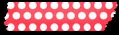 washi tape red polka 2