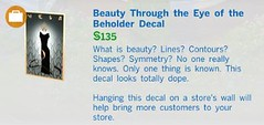 Beauty Through the Eye of the Beholder Decal