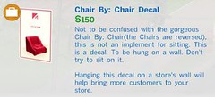 Chair by Chair Decal