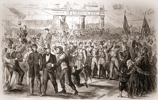 Reception by the People of New York of the Sixty-Ninth Regiment, N. Y. S. M., on Their Return from the Seat of War, Escorted by the New York Seventh Regiment