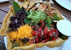 Taco salad at Rincon Brewery