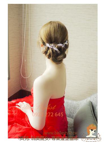[Wedding] 優雅 歐式鬆軟線條盤髮 氣質優雅公主微卷長髮 甜美花苞頭 典雅下盤包頭 貝兒新秘 . 推薦 台北