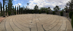 Walking the Labyrinth in Boulder City on World Labyrinth Day 2015