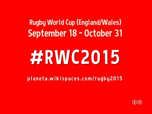 #RWC2015 = Hashtag for the 2015 World Rugby Cup