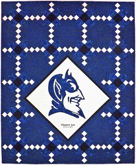 The Reason Duke Won Custom Quilt by Whimzie Quiltz
