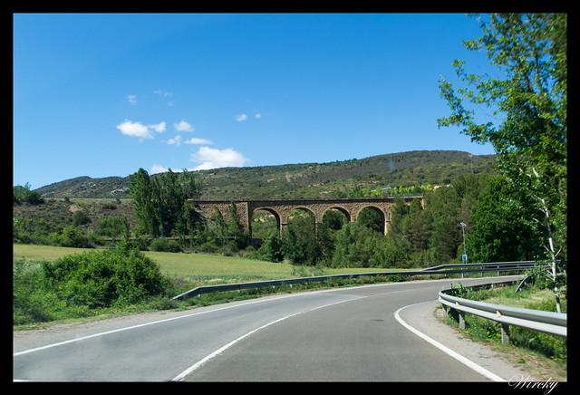 Vía del tren en Talarn