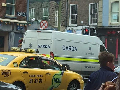 Irish Police Car - Paddy Wagon  - O'Connell Street, Limerick