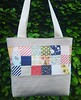 patchwork and linen bag