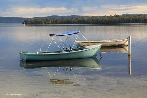 Fishing Boats on Wallis Lake at Green Point near Forster, NSW