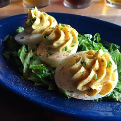#kvpny: Dino-mite! Deviled eggs at @Dinosaur_BBQ in Rochester