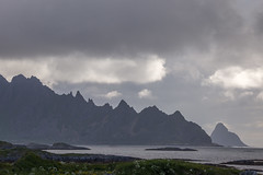 Razor-sharp mountains on Andøya