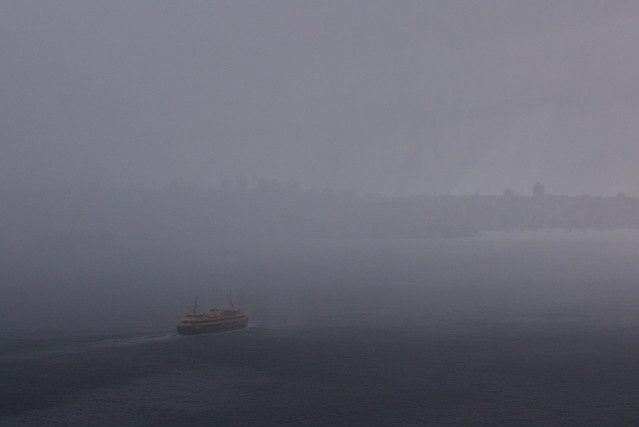 Photo circle: ferry in the rain