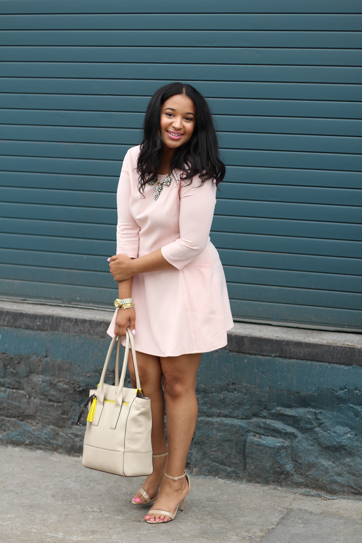 Blush Fit & Flare Dress