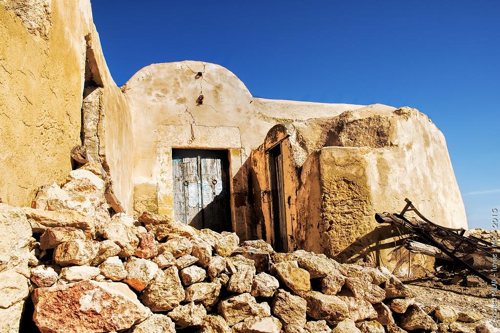 Maison berbère ancestrale à Takrouna