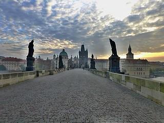 Charles Bridge, Prague early in the morning