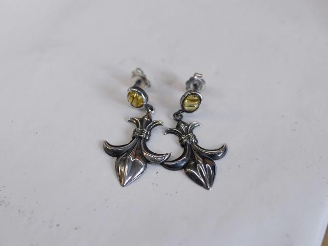 Sapphire Fleur-de-lys Earrings