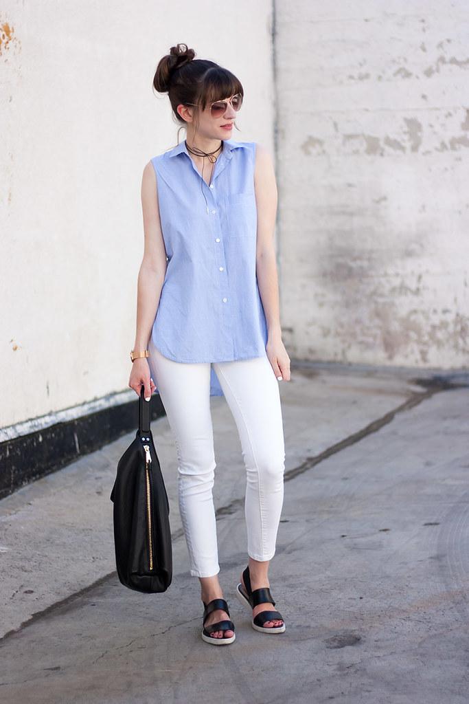 Everlane Sandals, Rebecca Minkoff Hobo Bag