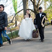 Bride, Groom and Photographer in Central Park