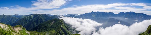 2792mピークから・・・黒部五郎岳~槍・穂高の眺め