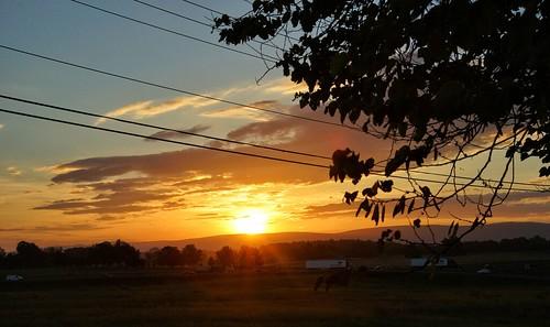 sunrise dawn sky clouds morning