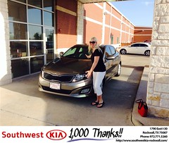 #HappyBirthday to Amy from Gary Guyette at Southwest KIA Rockwall!