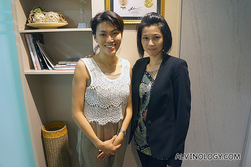 With the fabulously slim and youthful-looking Irene of Absolute Slimming.