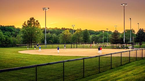 park sunset zeiss landscape baseball missouri ze leessummit otus1455 charlesdavidhartmanmemorialpark