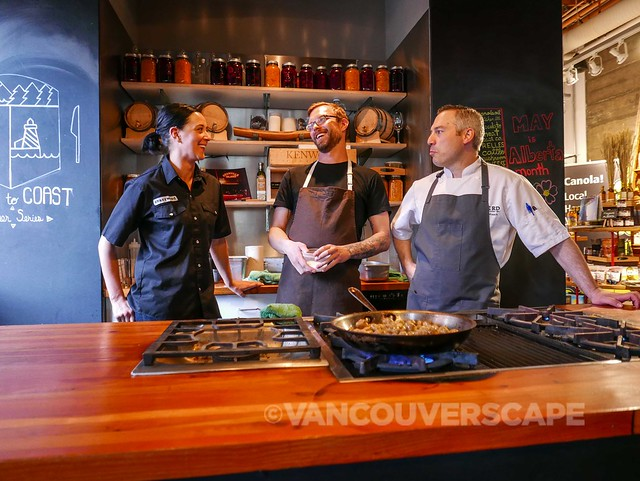 Alberta chefs Eden, Brayden, Blair at Edible Canada