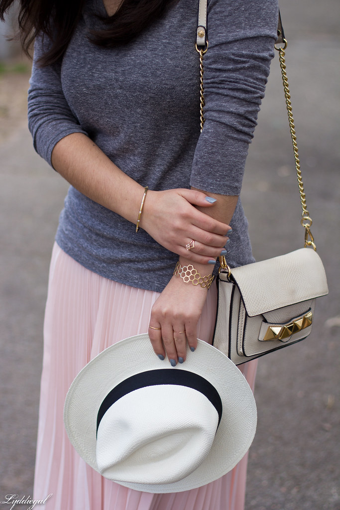 pleated maxi skirt, grey tee, panama hat-13.jpg