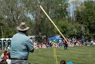 Girl Caber Tossing 2015 Alma Highland Festival May 23, 2015 36 | by stevendepolo