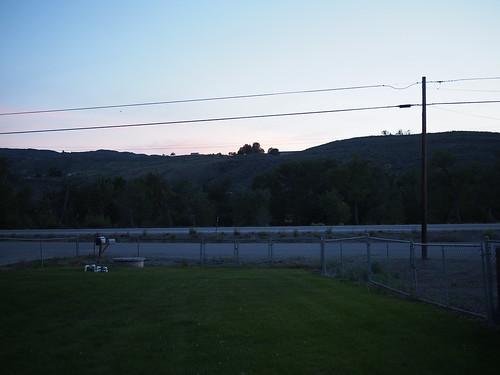 sunset rural
